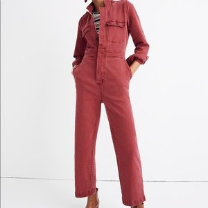 Madewell Garment Dyed Slim Denim Coverall Jumpsuit